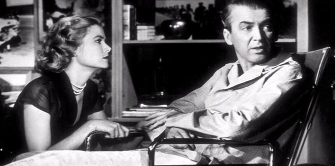 Okno do dvora, Grace Kelly, James Stewart
