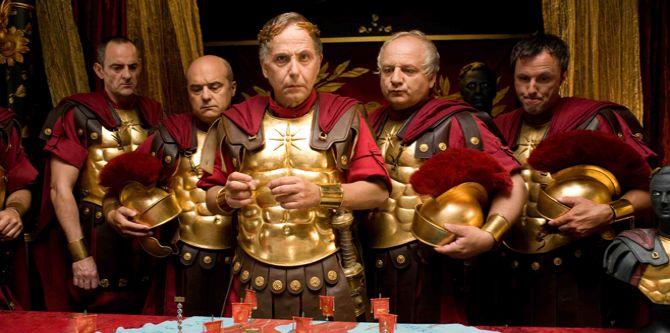 Scéna z filmu Asterix a Obelix ve službách jejího veličenstva
