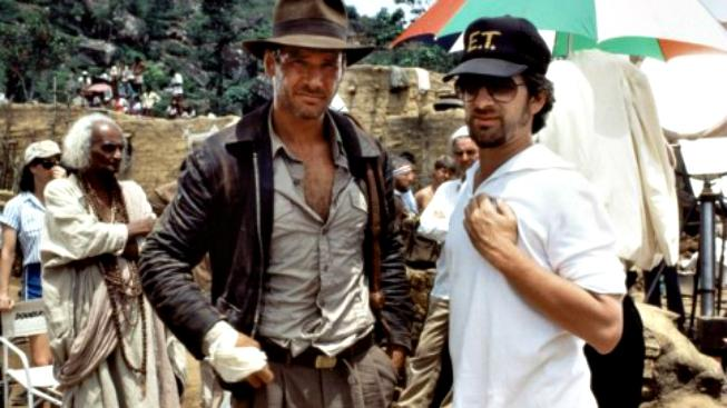 harrison ford and steven spielberg indiana jones and the temple of doom