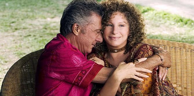 Dustin Hoffman a Barbra Streisand ve snímku Jeho fotr, to je lotr!