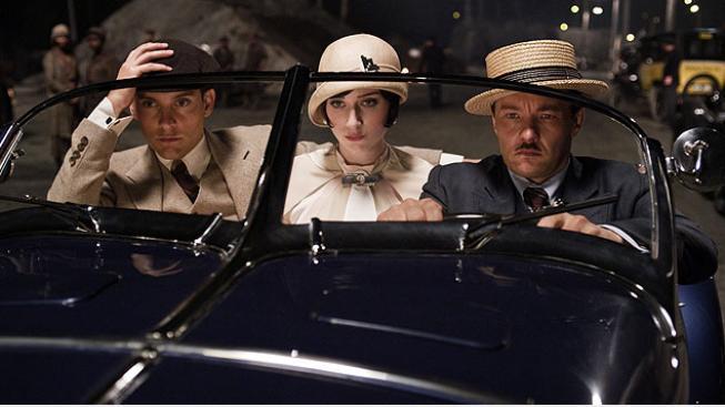 Tobey Maguire, Elizabeth Debicki, Joel Edgerton ve filmu Velký Gatsby