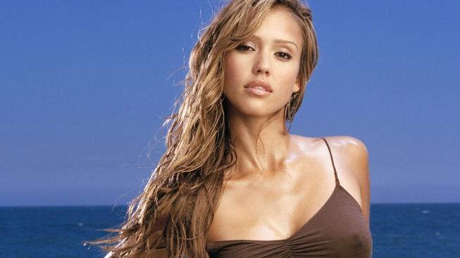 Jessica Alba on the Sea
