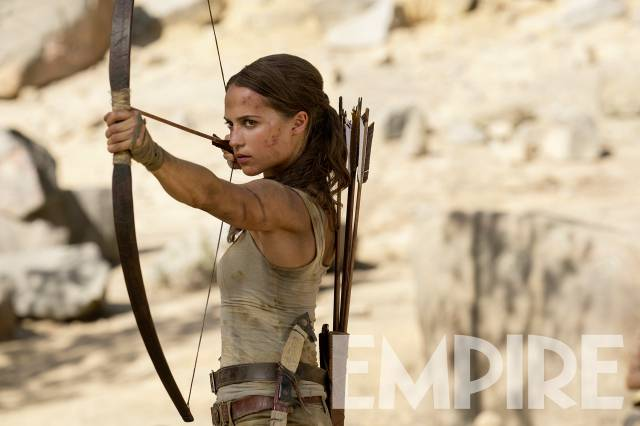 tomb raider lara croft alicia vikander bow