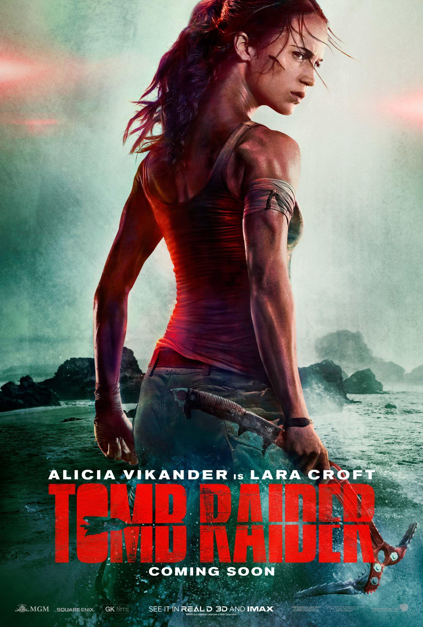 tomb raider movie alicia vikander poster