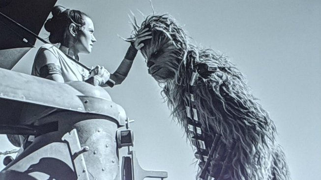 star wars episode 9 the rise of skywalker - chewie and daisy ridley rey