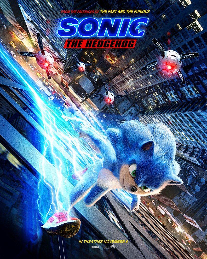 sonic 2019 movie poster